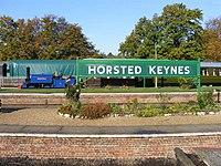 Horsted Keynes station sign and Sharpthorn.JPG