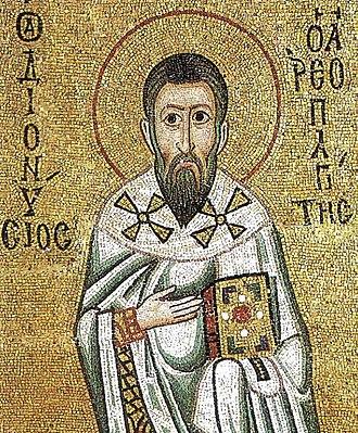 Dionysius the Areopagite - Fresco of Dionysius in Hosios Loukas monastery