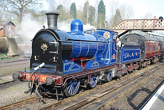 Caledonian Railway 812 and 652 Classes - Locomotive 828 on the Severn Valley Railway, 25 March 2012