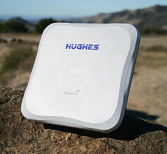 Broadband Global Area Network - BGAN Terminals, such as this Hughes 9202, are portable and can connect to the Internet from almost anywhere on the globe.