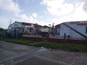 Barbuda - A house that was badly damaged by the hurricane