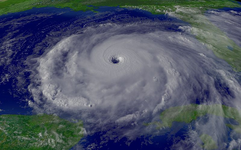 hurricane rita eye storm satellite