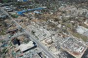 Damage to Long Beach, Mississippi following Hurricane Katrina