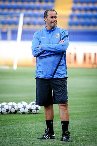 Huub Stevens - Stevens coaching PAOK in 2013