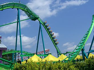 Floorless Coaster - Hydra the Revenge's first drop at Dorney Park & Wildwater Kingdom