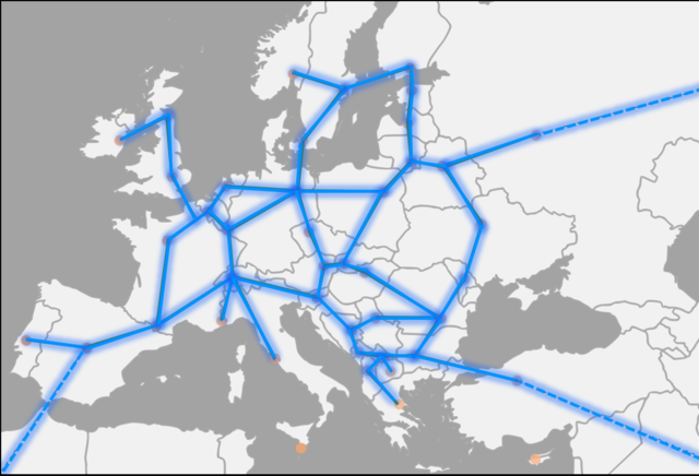 Hyperloop vision map for Europe