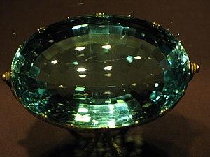 Imperial Treasury, Vienna - Image: IMG 0131 Wien Schatzkammer 492 carat Aquamarine