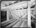 INTERIOR, ATTIC, DETAIL OF SLOPING SIDE OF ROOF - Shirley, State Route 608 vicinity, Shirley, Charles City, VA HABS VA,19-SHIR,1-21.tif