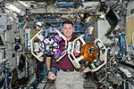 ISS-50 Shane Kimbrough with SPHERES-Halo in the Kibo lab.jpg