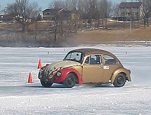 Ice racing - Volkswagen Beetle racing on ice