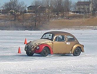 Ice racing - Volkswagen Beetle racing on ice