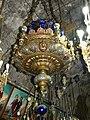 Ierusalim, Muntele Maslinilor, Biserica Mormantul Maicii Domnului (interior 10 - Candela daruita de Carol I al Romaniei)(5).jpg