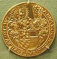 Ignoto, duchessa di wittelsbach anna, verso con salvatore, oro, 1565-80.JPG