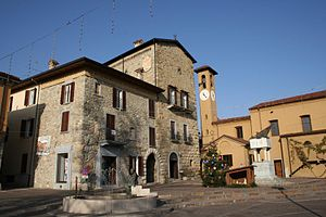 Imbersago - Main square of Imbersago, dedicated to Giuseppe Garibaldi