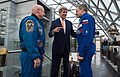 In Moscow, Secretary Kerry Speaks With Astronaut Scott Kelly and Cosmonaut Mikhail Kornienko Who Spent One Year in Space Together Aboard the International Space Station (25731248520).jpg