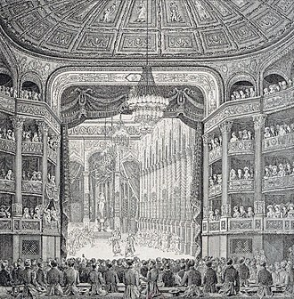 Salle Le Peletier - Performance of Charles-Simon Catel's opera Les bayadères for  the inauguration of the Paris Opera's Salle Le Peletier on 16 August 1821