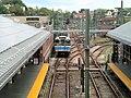 Inbound train arriving at Orient Heights, July 2015.JPG