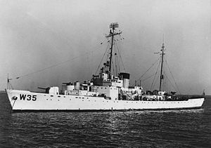 USCGC Ingham (WHEC-35) - Ingham in 1953