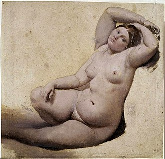 The Turkish Bath - Woman with Three Arms (Study for The Turkish Bath. Musée Ingres, Montauban.