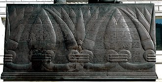 Ashurbanipal (sculpture) - Image: Inscription under the Statue of Ashurbanipal