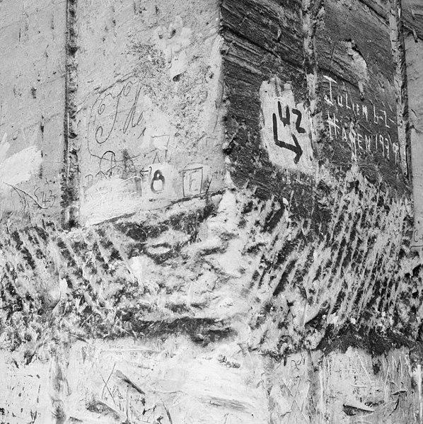 File:Interieur Zonneberg, detail muur met tekst, alles uit de Tweede Wereldoorlog - Maastricht - 20322066 - RCE.jpg