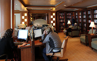 Internet café - Internet café and library on the Golden Princess cruise ship