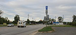 U.S. Route 25 in Michigan - M-125, shown here in September 2010, replaced the southernmost segment of US 25.