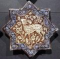 Iran, mattonelle stellate con animali, 1250-1300 ca. pecora.JPG