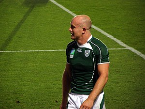 Denis Hickie - Image: Ireland vs Georgia, Rugby World Cup 2007 Hickie
