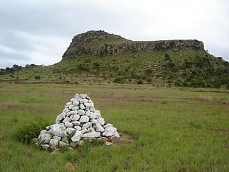 Cairn - One of many cairns marking British mass graves at the site of the Battle of Isandlwana (1879), South Africa