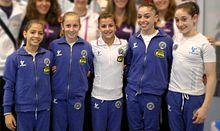La Nazionale italiana juniores agli Europei 2012: Lara Mori, Tea Ugrin, Elisa Meneghini, Enus Mariani, Alessia Leolini.