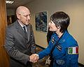 Italian Deputy Ambassador Mr. Luca Franchetti Pardo with Samantha Chrisoforetti.jpg