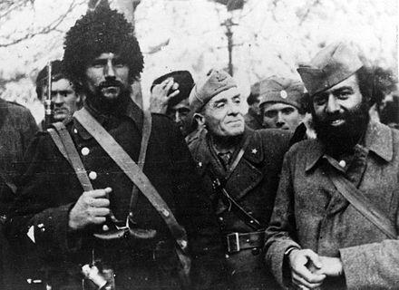 Talijanski časnik u društvu četnika