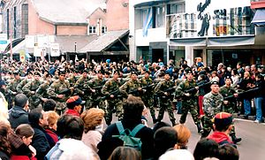 Armed Forces of the Argentine Republic - Image: JUNIN Centro Desfile Militar 001