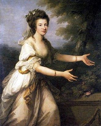 Julie Reventlow - Frederike Juliane Reventlow. Angelika Kauffmann 1784.