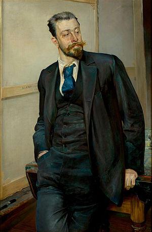 Michał Gorstkin-Wywiórski - Michał Gorstkin-Wywiórski; portrait by Jacek Malczewski.