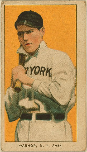 Jack Warhop - Tobacco card of Jack Warhop