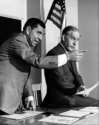 Dragnet (franchise) - Webb and Morgan in 1968.