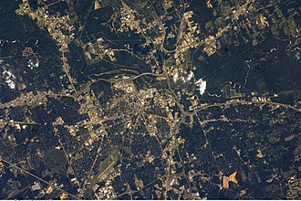 Photograph of Jackson Mississippi taken from the International Space Station Jackson Mississippi.jpg