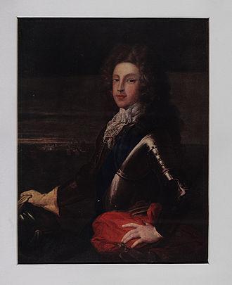 James Francis Edward Stuart - Coloured portrait of James as young man