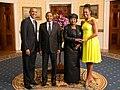 Jakaya Kikwete with Obamas 2014.jpg