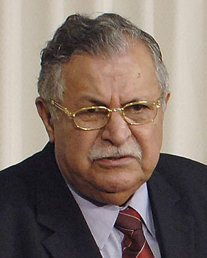Kurdish Democratic Progressive Party - The alliance with Jalal Talabani (pictured) decisively influenced the history of the PDPKS.