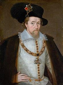 Jacques VI et Ier par John Decritz, 1604