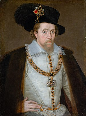 Jacobean debate on the Union - Image: James I de Critz Mirror of GB