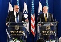 James Mattis with Avigdor Lieberman in Israel 2017 (34176839365).jpg