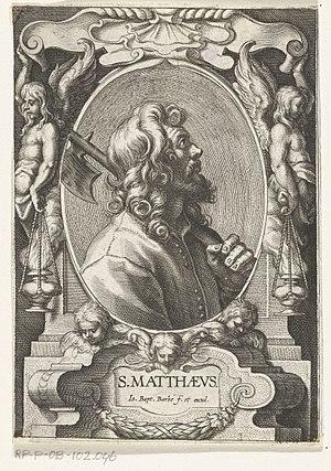 Jean-Baptiste Barbé - St Matthew with halberd