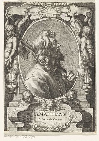 Jean-Baptiste Barbé - St Matthew with halberd