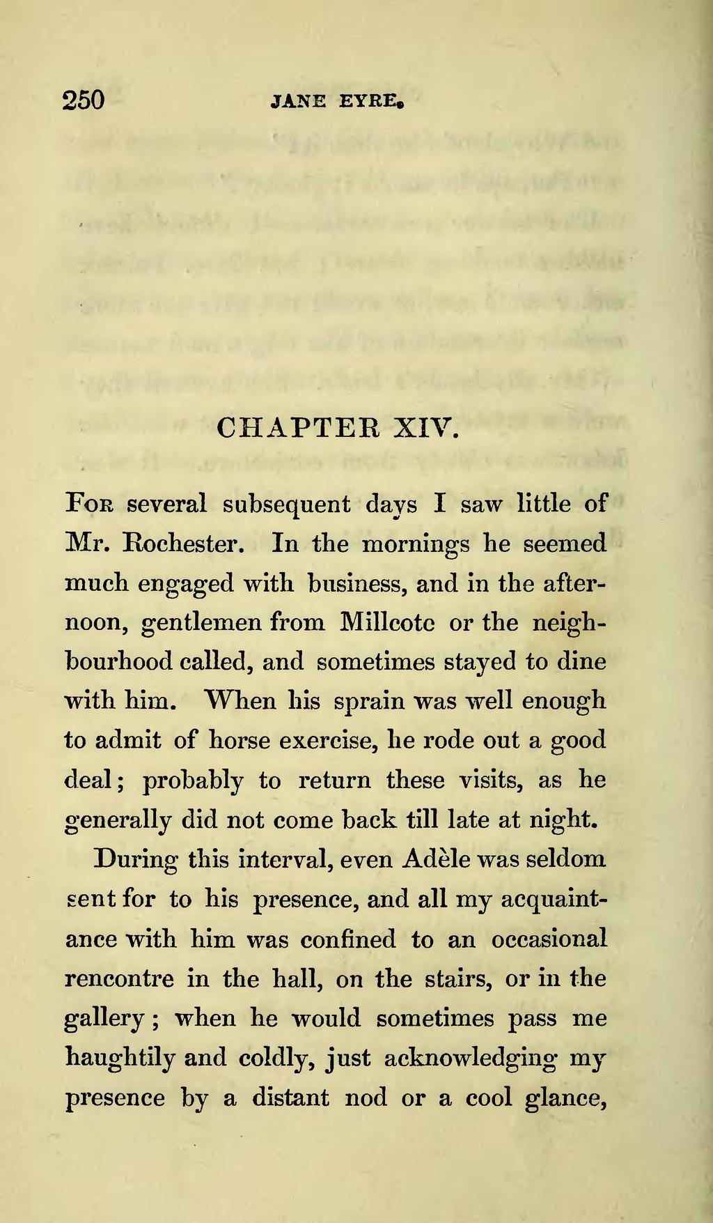 Jane Eyre rencontre Mr Rochester par le montant