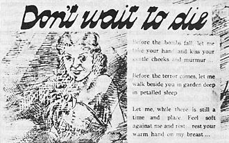 Propaganda in fascist Japan - Japanese propaganda leaflet distributed during the Battle of the Philippines