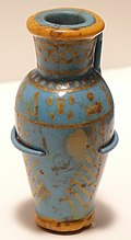 Enamelled-glass jar from Thutmose III's tomb